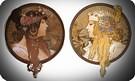 Las cabezas bizantinas 1897. Alphonse Mucha.