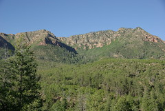 Looking up at the Mogollon Rim east of Payson ...