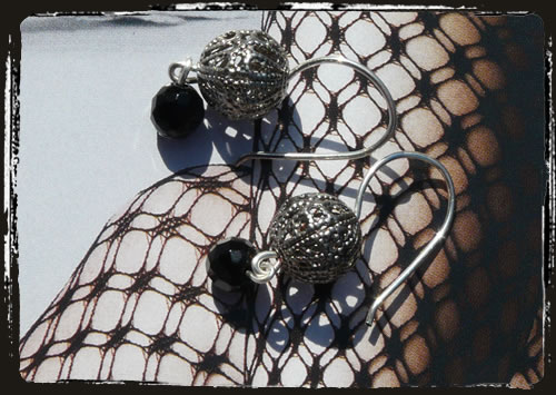 Orecchini neri - Black earrings MEHIFSN