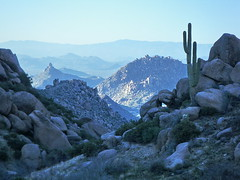 Pinnacle Peak from Tom's Thumb Ravine - McDowe...
