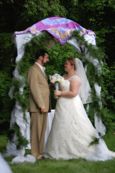 The Beautiful Bride & Groom under their chuppah.