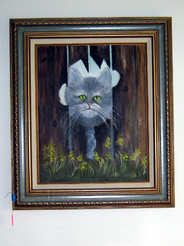 Freaky cat painting