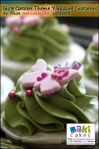 Fairy Garden Theme Wedding Cupcakes-butterfly - Maki Cakes