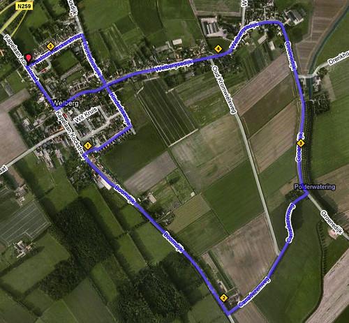 Parcours 10 km van Groot-Steenbergen