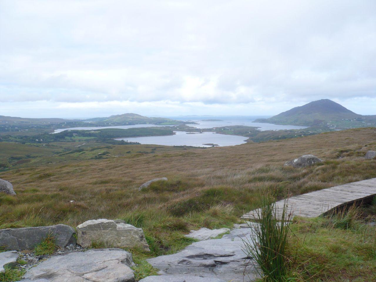 vista desde el Connemara National Park