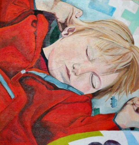 Sam Sleeping in his fleece