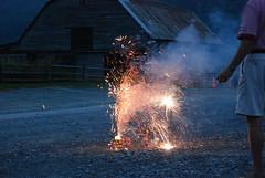 Mountain fireworks