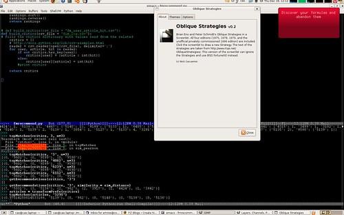 Oblique Strategies screenlet