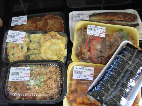 various Korean snacks
