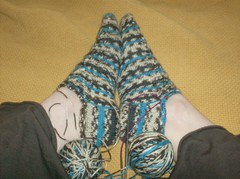 Woven Cable Eyelet Socks
