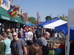crowd at the market