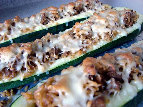 Finished stuffed zucchini