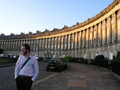 Paul in the Royal Crescent, Bath, UK
