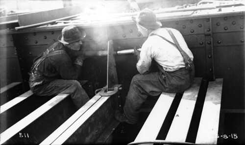 Construction Workers Riveting by Cleveland Memory Project.