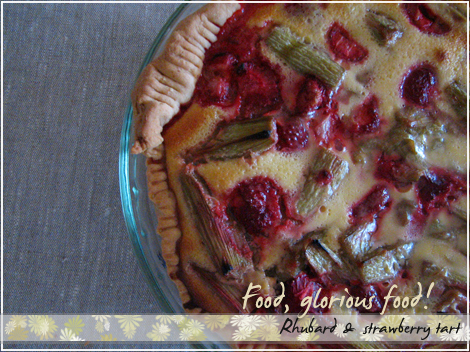 Rhubard & strawberry tart