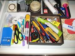 "Organized ""junk"" drawer"