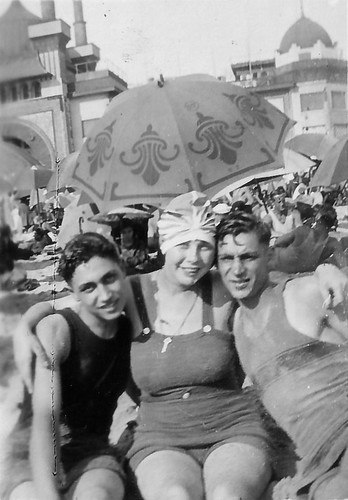 Jack and Al Gruenberg at beach with Anne Goodman.jpg