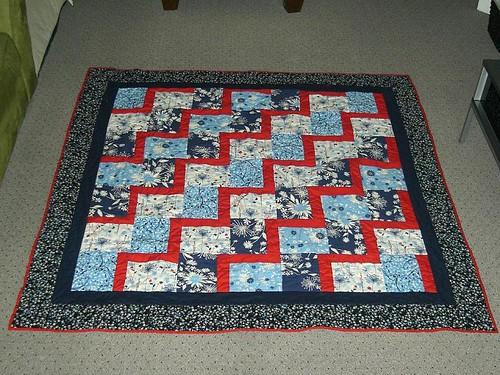 the finished quilt front