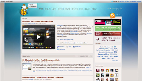 Windows 7 theme for Channel 9