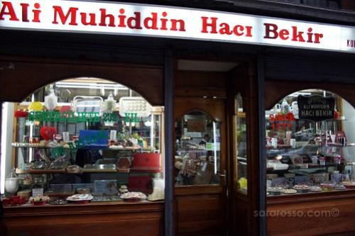 Ali Muhiddin Haci Bekir Shop Window, Istanbul, Turkey