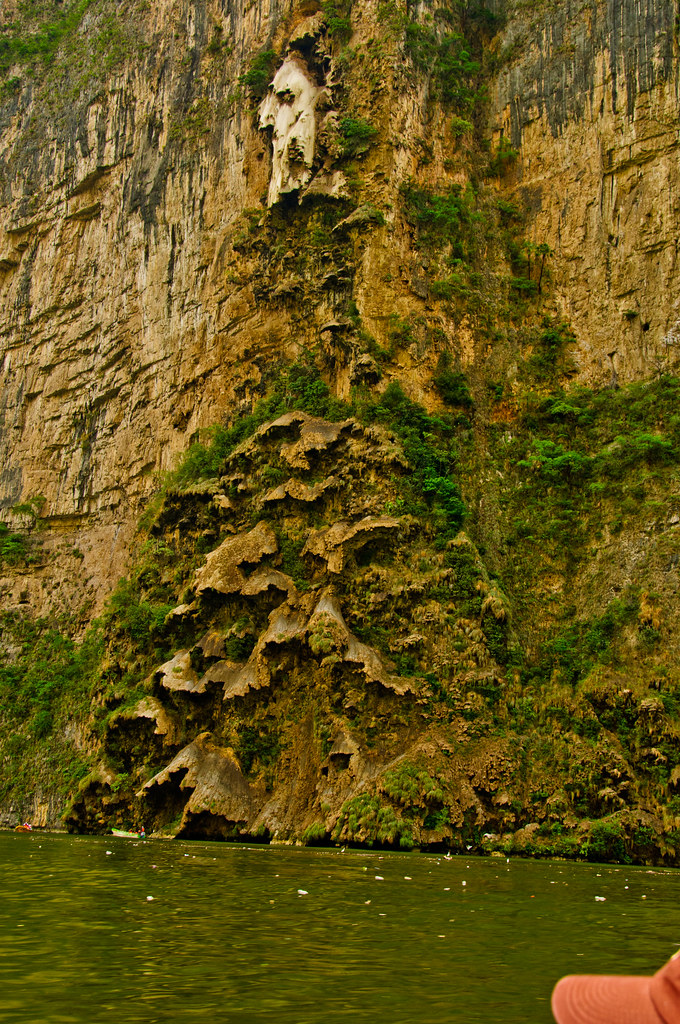 Flowstone structure in the Sumidero Canyon