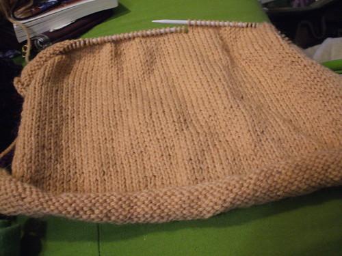 Wheat-Ear Yoke Sweater, take 1