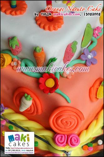Orange Naruto Cake_ - Maki Cakes