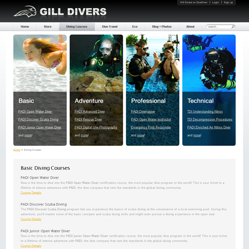 Gill Divers - Diving Courses