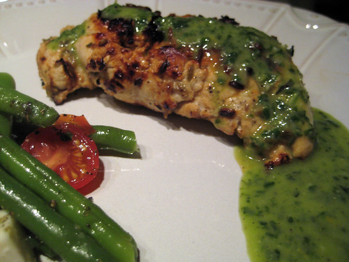 Grilled Chicken with Lemon Basil Dressing