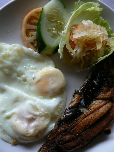 fried bangus with eggs