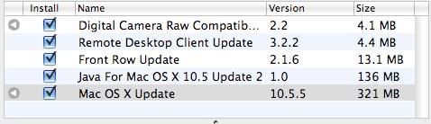 Actualizaciones OSX