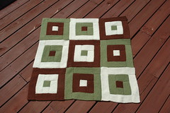 Log Cabin Squares Blanket