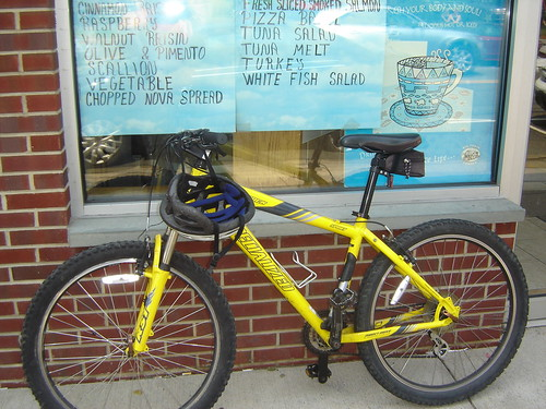 Bike at Watson Bagels