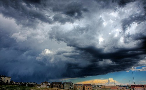 sky storm clouds colorado hdr