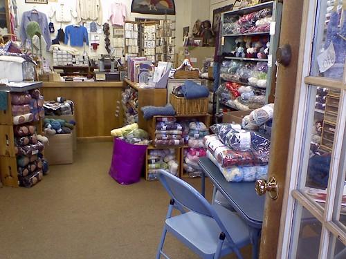 Inside Abbot Yarn shop