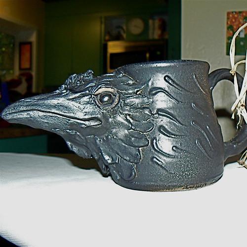 Raven mug by Jen Hennig