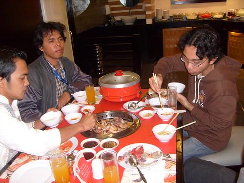 makan bareng di hanamasa tangerang, outing bersama PT. IP Teknologi Komunikasi 2008