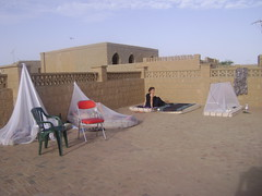 Our Timbuktu sleeping quarters