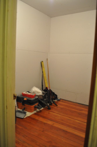 early stages of the laundry room