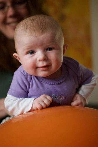 Tummy Time on the Exercise Ball