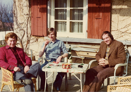 with Red Rector and Bill Clifton, 1976