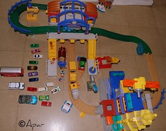 part of As train set & other toys thrown in.