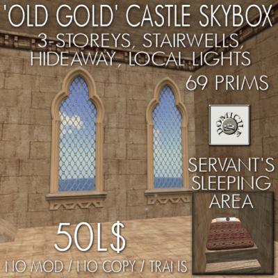 Domicile Old Gold Castle Skybox