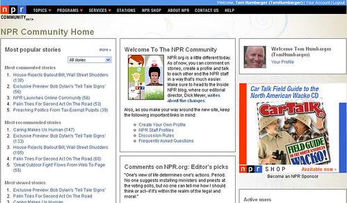 NPR Community Homepage