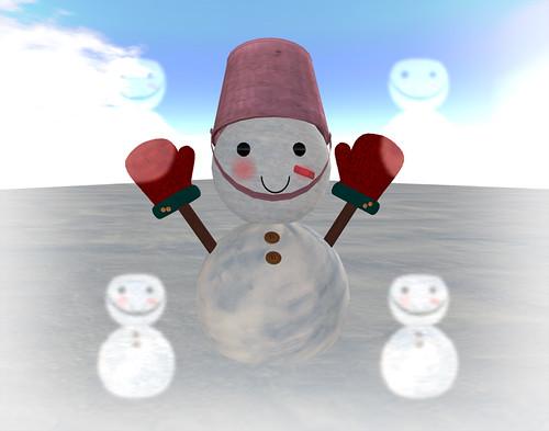 Snowman glow bug