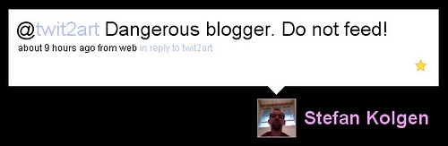 Dangerous blogger. Do not feed!
