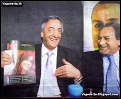 Kirchner,Cristina y Balestrini se te cagan de risa