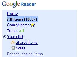 Friendfeed - Google Reader