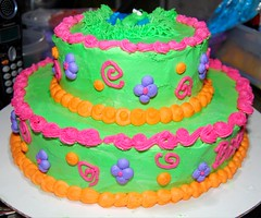 Dora cake I made decorated for Ella's birthday