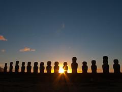 Sonnenaufgang in Tongariki